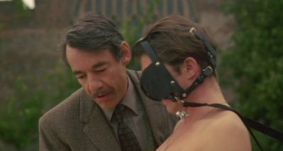Roger Lloyd-Pack telling Christien Anholt to bend over