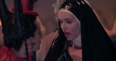 The Fetish Nun mid climax