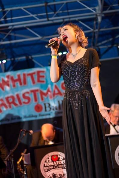 Singing at the 2015 White Christmas Ball Josh Barrett (Ignite Images)
